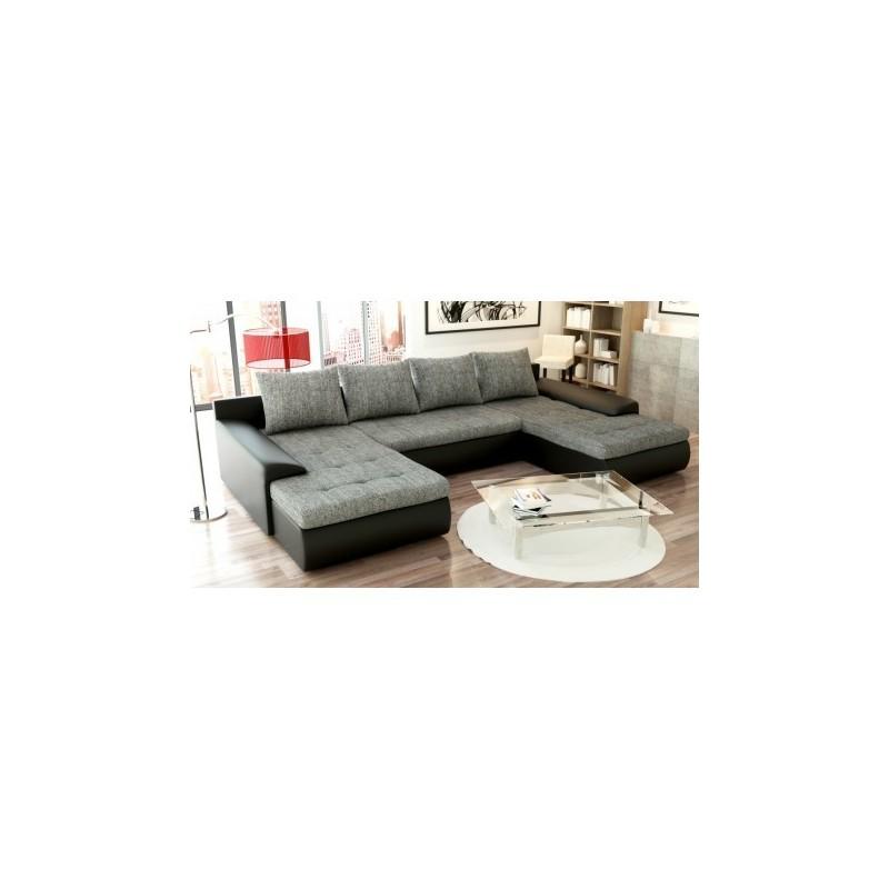 Canapé d'angle JOYU panoramique et convertible