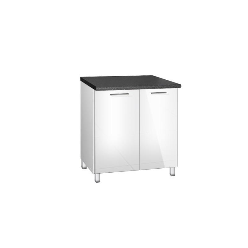 meuble bas 2 portes tara d 39 une largeur de 80cm. Black Bedroom Furniture Sets. Home Design Ideas