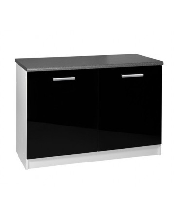 meuble cuisine bas 2 portes 120cm tara laqu. Black Bedroom Furniture Sets. Home Design Ideas