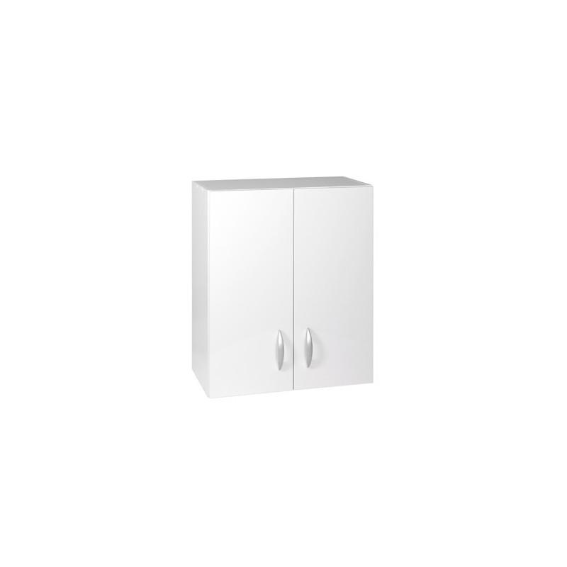 meuble haut 2 portes 60cm oxane blanc
