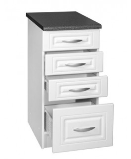 Élément bas 1 porte 4 tiroirs 40cm blanc