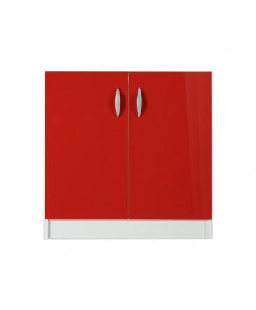 Meuble bas 2 portes 80cm rouge OXANE