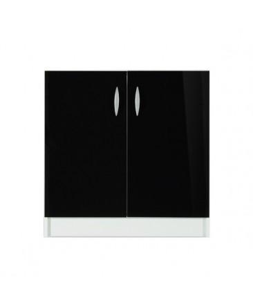 Meuble bas 2 portes 120cm noir OXANE