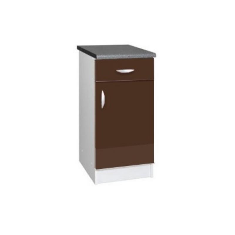 meuble cuisine bas 1 porte 1 tiroir 40cm oxane. Black Bedroom Furniture Sets. Home Design Ideas