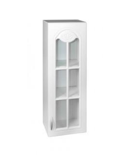 Élément haut 1 porte vitrine 40cm blanc