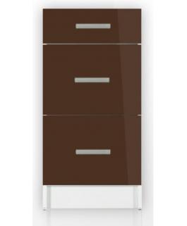 meuble cuisine bas 3 tiroirs 40cm tara. Black Bedroom Furniture Sets. Home Design Ideas