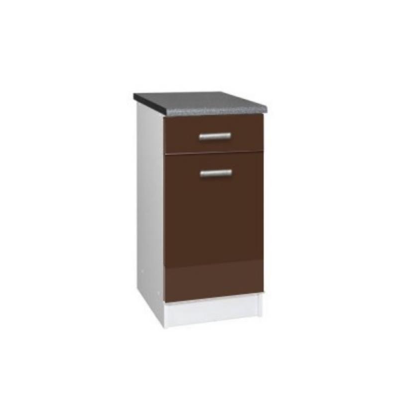 meuble cuisine bas 1 porte 1 tiroir 40cm tara. Black Bedroom Furniture Sets. Home Design Ideas