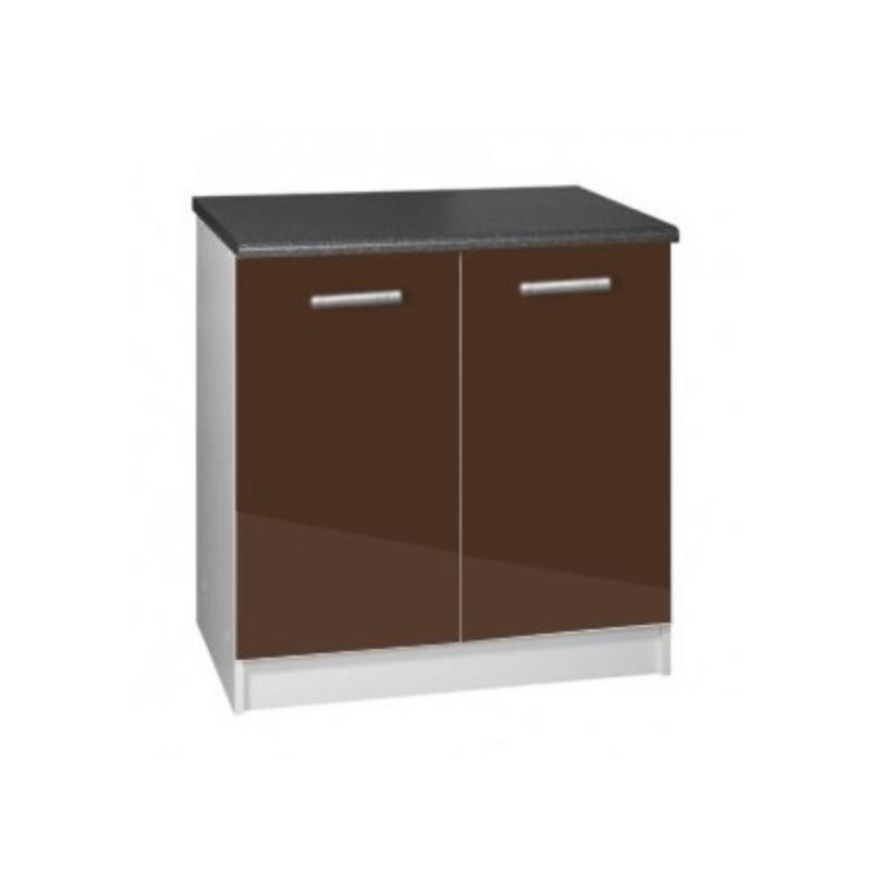 meuble cuisine sous vier 2 portes 80cm tara. Black Bedroom Furniture Sets. Home Design Ideas