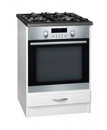 meuble cuisine bas four 1 tiroir 60cm dina blanc. Black Bedroom Furniture Sets. Home Design Ideas