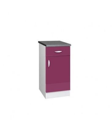 module de cuisine bas 1 porte 1 tiroir 50cm laqu blanc. Black Bedroom Furniture Sets. Home Design Ideas