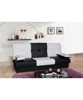 Canapé 3 places JUNON noir blanc