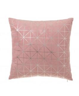 Coussin doux rose motifs...