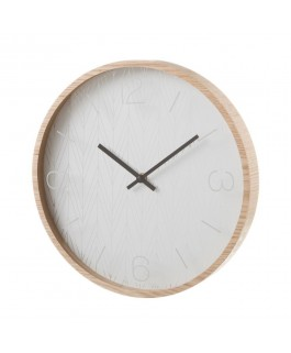 Horloge en fibre de bois 33 cm
