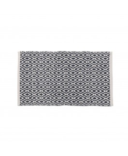 tapis motifs ethniques et graphiques coton bleu et blanc 180 x 120 cm. Black Bedroom Furniture Sets. Home Design Ideas