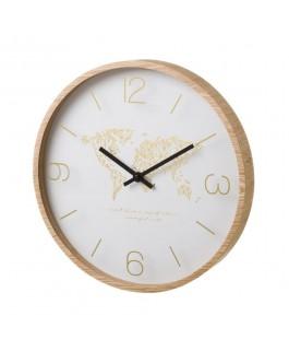Horloge mappemonde en fibre...