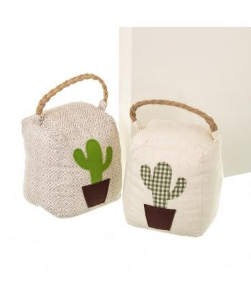 accessoire de décoration cactus en tissu et sable