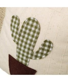 lot d'accessoires de déco cactus 2 cales porte en tissu et sable