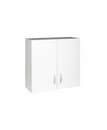 Meuble cuisine haut 2 portes 80cm OXANE blanc