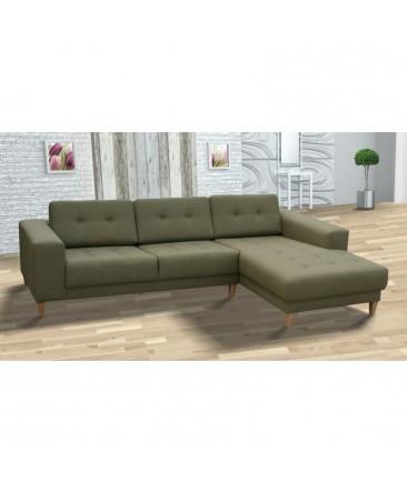Canapé d'angle MUN scandinave vert kaki