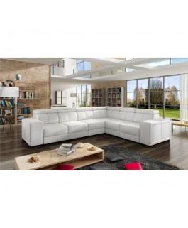 Canapé d'angle CAARIA blanc