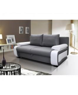 Canapé droit convertible MILANO gris blanc