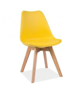 Chaise eames jaune scandinave