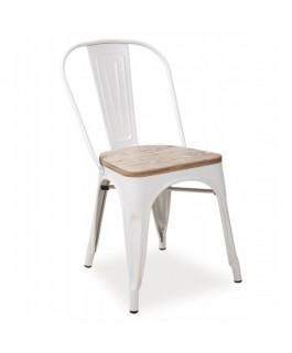 Chaise industrielle LOFTA blanc