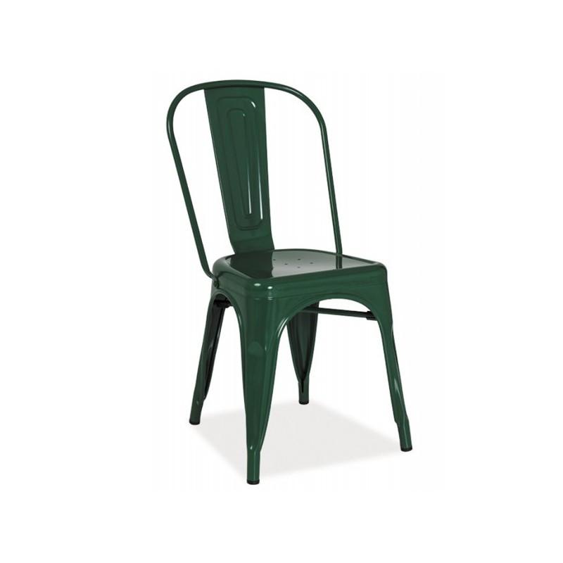 Chaise industrielle vert foncé