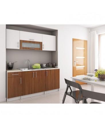 cuisine uka 180cm laqu e et bois. Black Bedroom Furniture Sets. Home Design Ideas