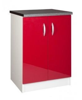 Élément bas 2 portes 60cm OXANE - rouge