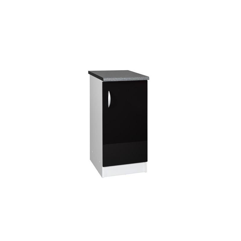 meuble bas 1 porte 40cm oxane pas cher. Black Bedroom Furniture Sets. Home Design Ideas