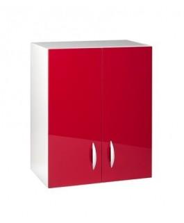 Meuble haut 2 portes 60cm OXANE rouge