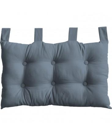 tête de lit bleu pastel pattes boutonnées en polyester dodo