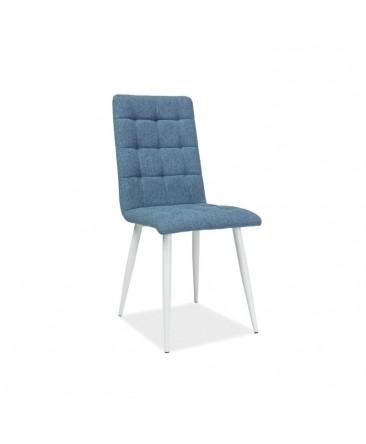 chaise bleu en tissu salle à manger otto