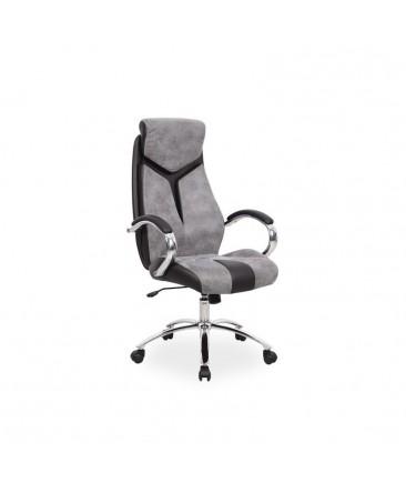chaise de bureau pivotante gris q-165