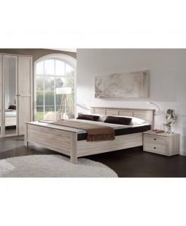 chambre à coucher complète imitation chêne 4 tiroirs et 1 porte battante
