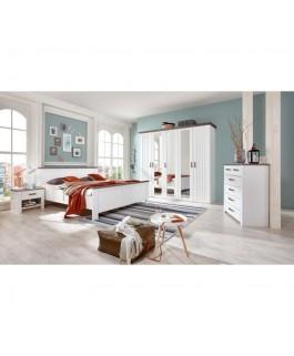 lit double blanc  laqué pour chambre d'adulte castello
