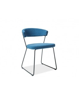 chaise bleu design helix