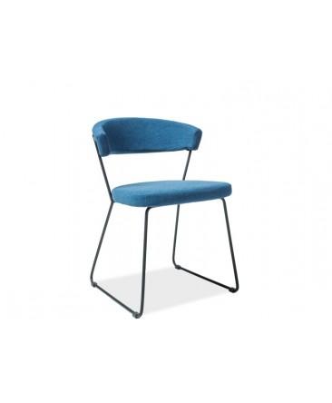 chaise bleu design helix