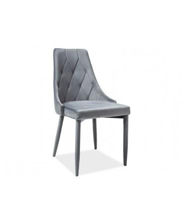 chaise en velours trix gris vif