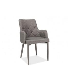 chaise matelassée gris ricardo