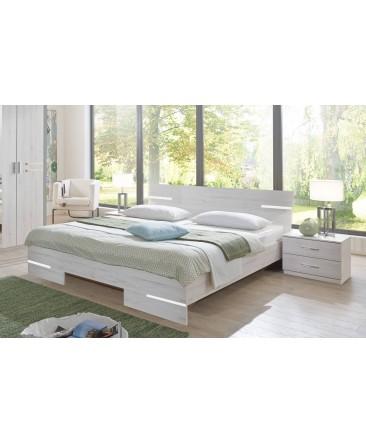 lit double en chêne blanc susana