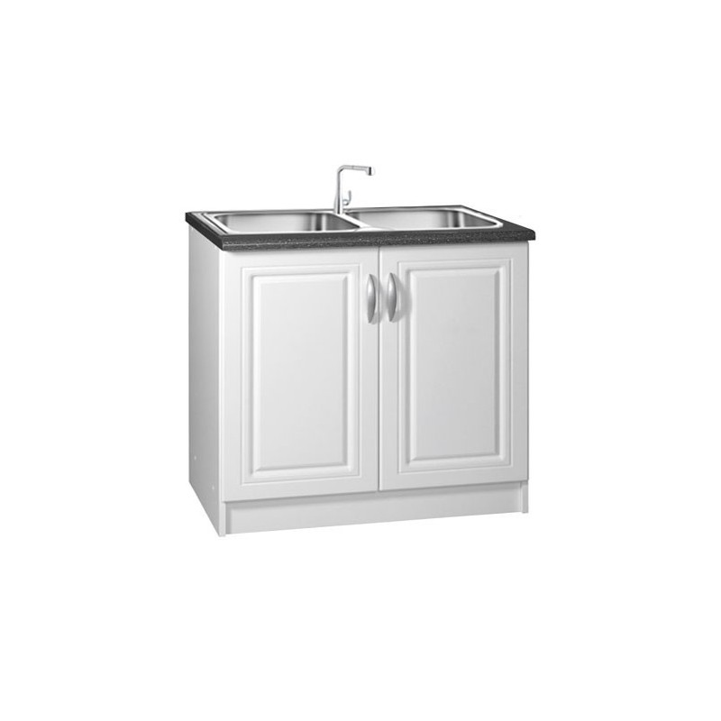 meuble cuisine sous vier 2 portes 90cm blanc dina. Black Bedroom Furniture Sets. Home Design Ideas