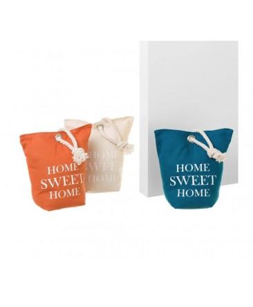 3 décorations butoirs de porte orange ivoire et bleu