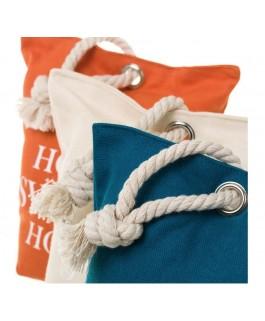sacs décorations  x 3 butoirs de porte orange ivoire et bleu