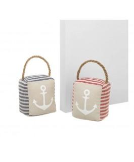 cales portes sac marin en tissu et sable