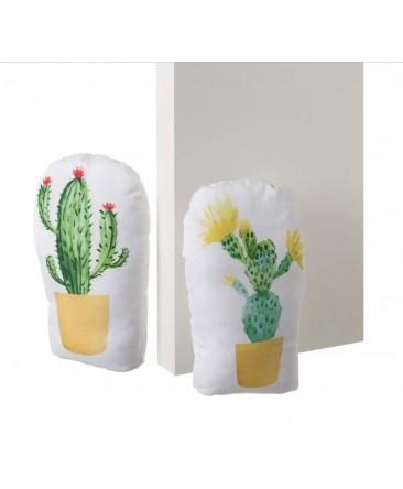 butoirs de porte cactus   en tissu et sable