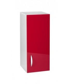Meuble cuisine haut 1 porte 30cm OXANE rouge
