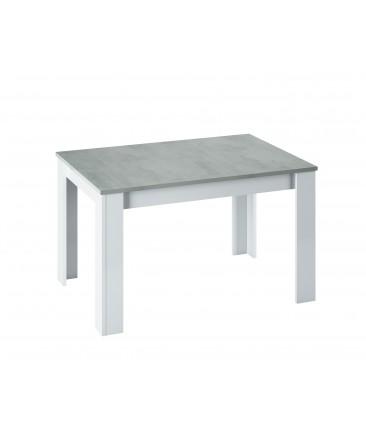 table extensible 140 à 190 cm gris blanc kenda