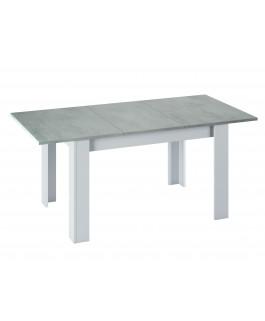 table console extensible 140 à 190 cm gris blanc kenda